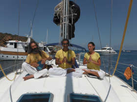 Yoga and Sail among the seven sister in Sicily