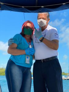 Doctors in Cayo Largo Marina, Cuba 3rd March 2020